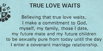 What do you mean by true love waits